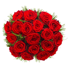 A heartfelt gesture conveyed by a traditional bouquet of premium Red Roses.