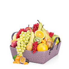 This seasonal classic, a combination of fresh fruit is always a very welcome gift. The fruit baskets are hand made in our own warehouse with only prime quality fruit.
