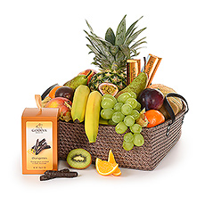 Supreme Fruit & Godiva Basket