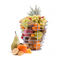 Surprise your dearest friends by giving them the Design Basket from Korb filled with a Fresh and Exotic Fruit Selection.