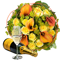 Charming Gold & Veuve Clicquot Champagne
