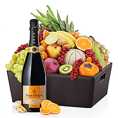 VIP Corbeille de Fruits & Veuve Clicquot