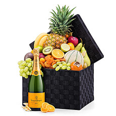 Seasonal Deluxe Exotic Fruit Hamper & Veuve Clicquot