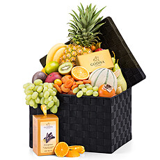 Seasonal Deluxe Exotic Fruit Hamper & Chocolates