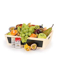 Classic Leather Fruit Hamper & Chocolate