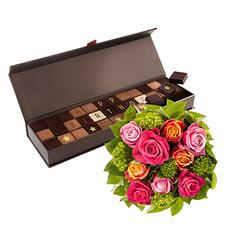 Chocol@ Happy Birthday & Roses