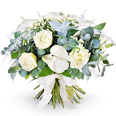 Send your warmest wishes with this White Tradition Bouquet.