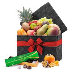 Fruits Corbeille Exotique avec Chocolat de Godiva Noël