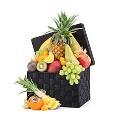 Ce saisonnier exotique, une combinaison de fruits frais classiques et exotique.