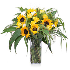 This vibrant sunflower bouquet is like a ray of sunshine!