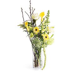 Stylish Yellow Bouquet In Vase