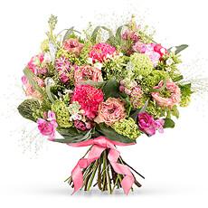 Bouquet de Fleurs Roses Pour la Fête des Mères