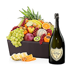 VIP Hamper Exotic Fruit & Dom Perignon