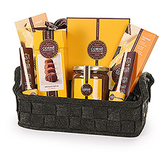 Discover the rich, delicious world of Corné Port-Royal Belgian chocolate in our vibrant new gift set packed with truffles, assorted chocolates, tablets, chocolate nut spread, and more.