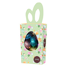 How cute is this box in the shape of bunny ears, filled with 15 delicious Easter Eggs?