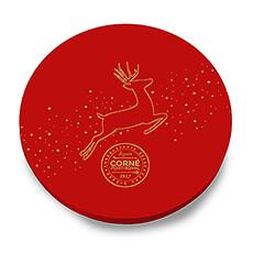 Cette belle boîte ronde de Noël égayera toute table de fête!