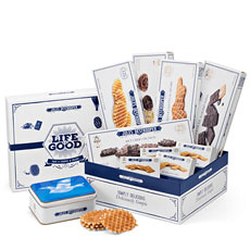 Enjoy the delicacy of Jules Destrooper almond thins, butter crisps, florentines and others. The perfect holiday office gift in France, Sweden, Spain and beyond.