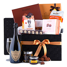 The Ultimate Gourmet Hamper Dom Pérignon Vintage 2008 is a truly spectacular gift basket. It is the perfect VIP luxury gift idea for corporate gifting, dear friends, and beloved family.