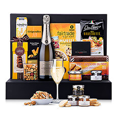 Gather friends and family for a luxury Champagne brunch with a bounty of gourmet sweet and savory breakfast foods.