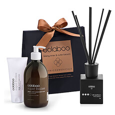 Melt away daily stress with this relaxing spa gift set featuring luxury products by Oolaboo from the Netherlands.