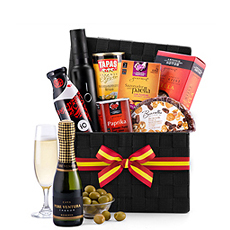 Send this gift hamper featuring the best Spanish gourmet foods with a bottle of Cava sparkling wine to anyone who appreciates fine food or Spanish cuisine.