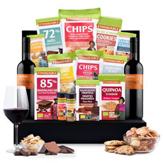 What could be better than a generous collection of the best sweet and savory Fair Trade snacks from around the world? When the tasty Ethiquable Fair Trade snacks are presented with a two bottles of Valdibella Kerasos Nero D' Avola red wine from Sicily!