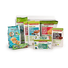 This beautiful Fair Trade gift basket is filled with a treasure trove of sweets to share and enjoy.
