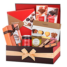 Make a lasting impression with our Neuhaus Luxury Chocolate & Sweets Gift Box overflowing with the best Belgian chocolate pralines, gourmet biscuits, delicious chocolate spread, and more!