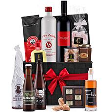 Découvrez, grâce à ce panier-cadeau de luxe, le monde fabuleux des produits régionaux de Flandre occidentale!