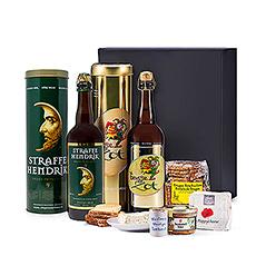 Ces produits locaux sont à découvrir sans hésitation. Ils sont soigneusement emballés dans un luxueux coffret-cadeau noir, orné dun ruban du label 100% Flandre occidentale'.