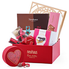 Pamper anyone who deserves it with a decadent selection of our finest Neuhaus Belgian chocolates presented in an exquisite filigree gift box.