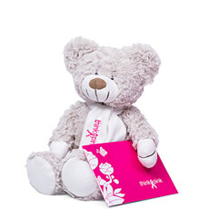 This adorable teddy bear has a heart of gold and a special mission: to support Think-Pink, the National Breast Cancer Campaign in Belgium.
