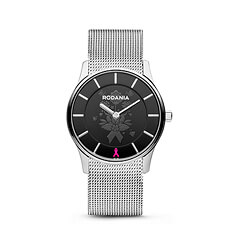 Created by Belgian watchmaker Rodania, this beautiful stainless steel watch supports Think-Pink, the National Breast Cancer Campaign in Belgium.