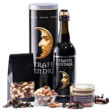 A powerful Belgian beer combined with snacks for tough men: the perfect Father's Day Gift!