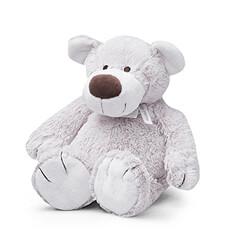L'ours en peluche Baggio est doux, aime les câlins, et peut être lami de tout le monde.