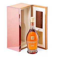 Make an enduring impression when you send this ultra-luxurious bottle of Glenmorangie Single Malt Scotch Whisky Grand Vintage 1990.