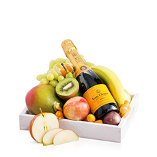 What could be better than the perfect pairing of delicious ripe fruit with luxurious Veuve Clicquot Brut Champagne?