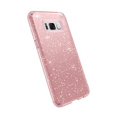Samsung S8 Presidio Clear Paillettes Or Rose