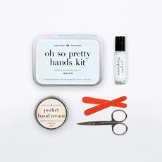 Containing everything you need to keep your hands looking pretty.