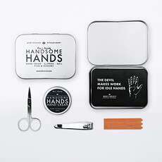 Containing all thats needed to manage and maintain a fine looking pair of hands. Our kit can be used by all skin types.