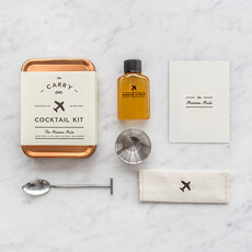This kit includes the tools to mix two Moscow Mules mid-flight, including everything you need, all you need to do is add the hard stuff.