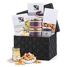 This splendid pâté & duck mousse gourmet gift hamper is an epicure's dream come true.