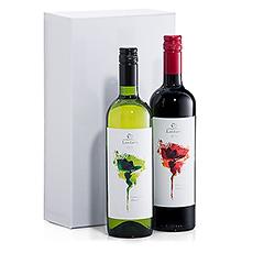 Profitez de ce duo merveilleux de vins Fairtrade qui est présenté dans une luxueuse boîte-cadeau blanche.