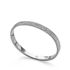 This Miracles silver toned bracelet with 3 rows of sparkling stones, should be part of every woman's jewelry box.