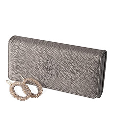 This is the perfect gift for fashionistas: a stylish Miracles by Annelien Coorevits wallet and earring gift set.