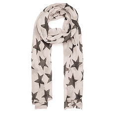 This lovely pale pink and gray star scarf by Danish brand Beck Söndergaard will quickly become her favorite accessory.