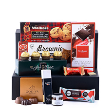 Fun to give, even more fun to receive - our Large Chocoholic gift basket is always the perfect gift idea for any occasion.