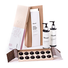 What better way to make your special someone feel pampered than this gift set with posh Likami Duo Hand & Body Wash paired with Chocolat Essentiel LOVE chocolates? Both offer a relaxing, mood-enhancing experience that will be appreciated by women and men alike.