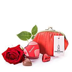 Beck Söndergaard Wallet, Chocolates & Rose