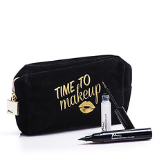 This fancy makeup bag by Mii with a gold zipper will be her cup of tea!
